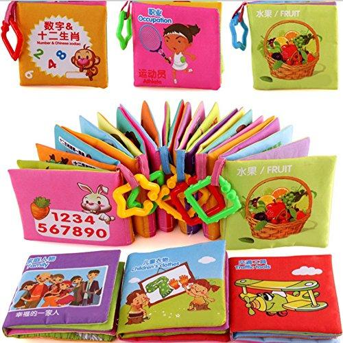 6PCS/Set Soft Cloth Books Infant Educational - 4