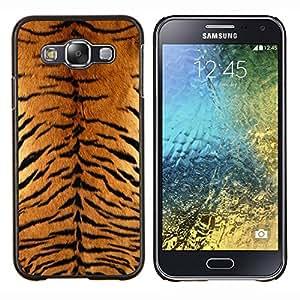 YiPhone /// Prima de resorte delgada de la cubierta del caso de Shell Armor - Tiger Furry patrón animal salvaje del gato grande - Samsung Galaxy E5 E500