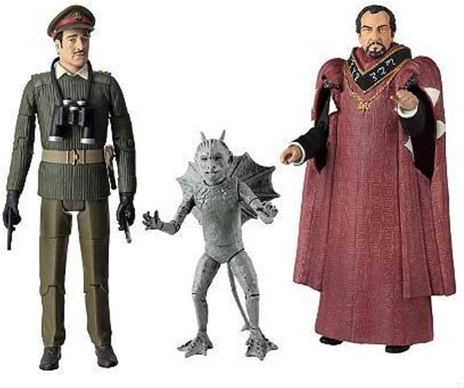 "3rd Doctor Who The Daemons 5/"" Action figure Set Master Bok Gargoyle Brigadier"