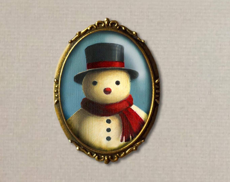 Christmas Jewelry Christmas Bear Button Brooch Handmade Jewelry Bear Brooch Christmas Jewelry Brooch Christmas Pin Handmade Brooch