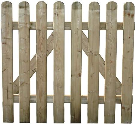 HOMEGARDEN Cancela para cobertizos (Madera de Pino para Valla jardín 100 x 100 cm: Amazon.es: Hogar