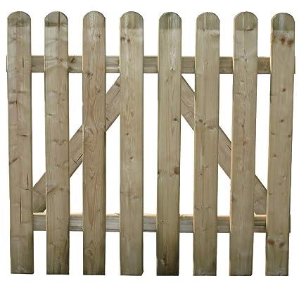 HOMEGARDEN Cancela para cobertizos (Madera de Pino para Valla jardín 100 x 100 cm