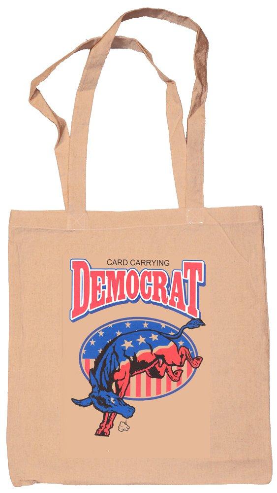 Card Carrying Democrat Canvas Tote Bag Natural