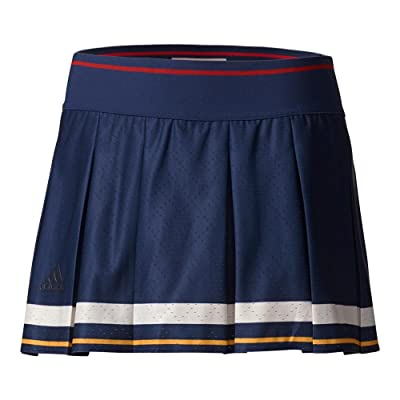 adidas Women`s New York Pharrell Williams Tennis Skort Dark Blue and Scarlet-(BR