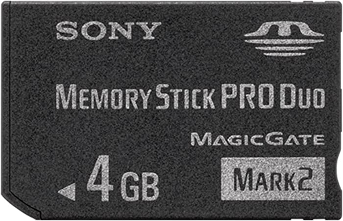 Sony Memory Stick PRO Duo (Mark 2) Memory Card 4 GB 4GB 4 Gig for Digital Camera Sony Cybershot Cyber-Shot/Alpha Series