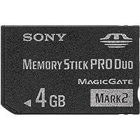 Sony Memory Stick Pro Duo 4GB Memoria Flash MS Pro Duo - Tarjeta de Memoria (4 GB, MS Pro Duo, Negro)