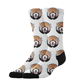 YEAHSPACE Dress Socks Bear Head Pattern Soft Colorful Fun Crew Gift For X