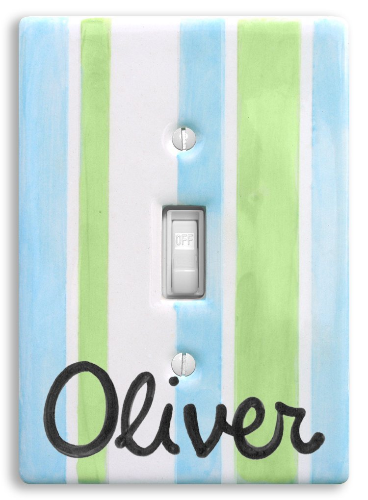 Sailboat Light Switch Cover Hand Painted Ceramic