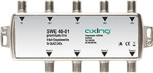Axing SWE 40-01 - Multiplexor de señales de Antena (4 Salidas) (Importado)