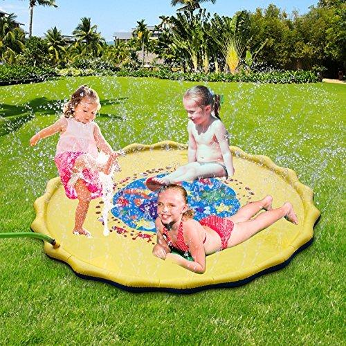 FitMaker Sprinkle and Splash Play Mat, 67 in-Diameter Sprinkle N Splash, Fill N Fun Water Mat Toy for Baby, Kid, Child