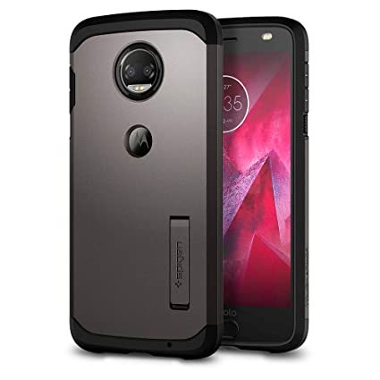Spigen Tough Armor Designed for Motorola Moto Z2 Force Case (2017) - Gunmetal