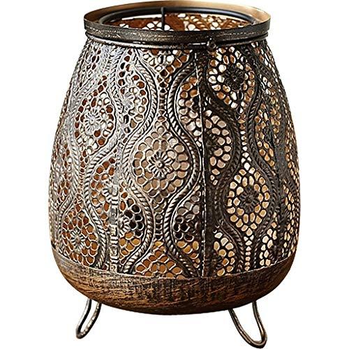 JYEMDV Featured Pattern Candle Holder High Foot Hollow Candlestick Home Desktop Iron Decoration Candelabra