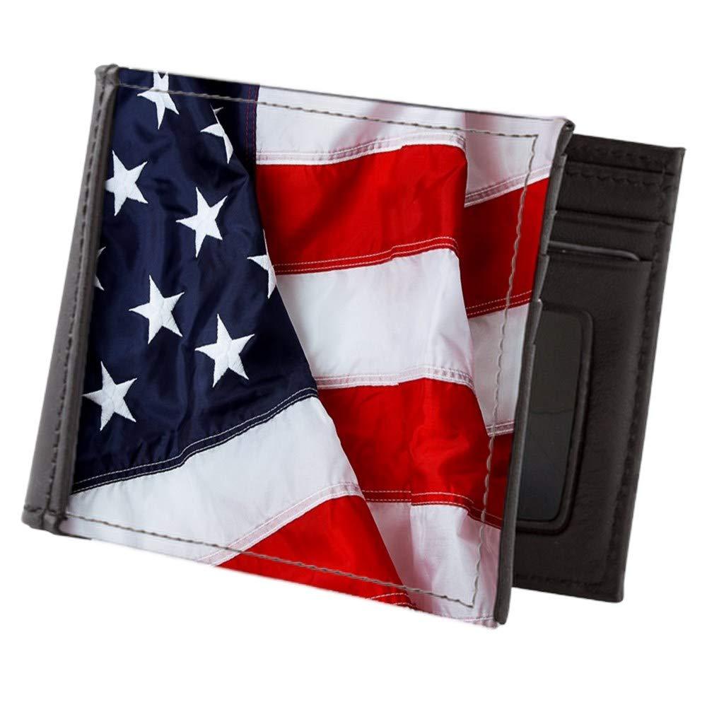 Royal Lion Mens Wallet Billfold US American Flag Waving HD