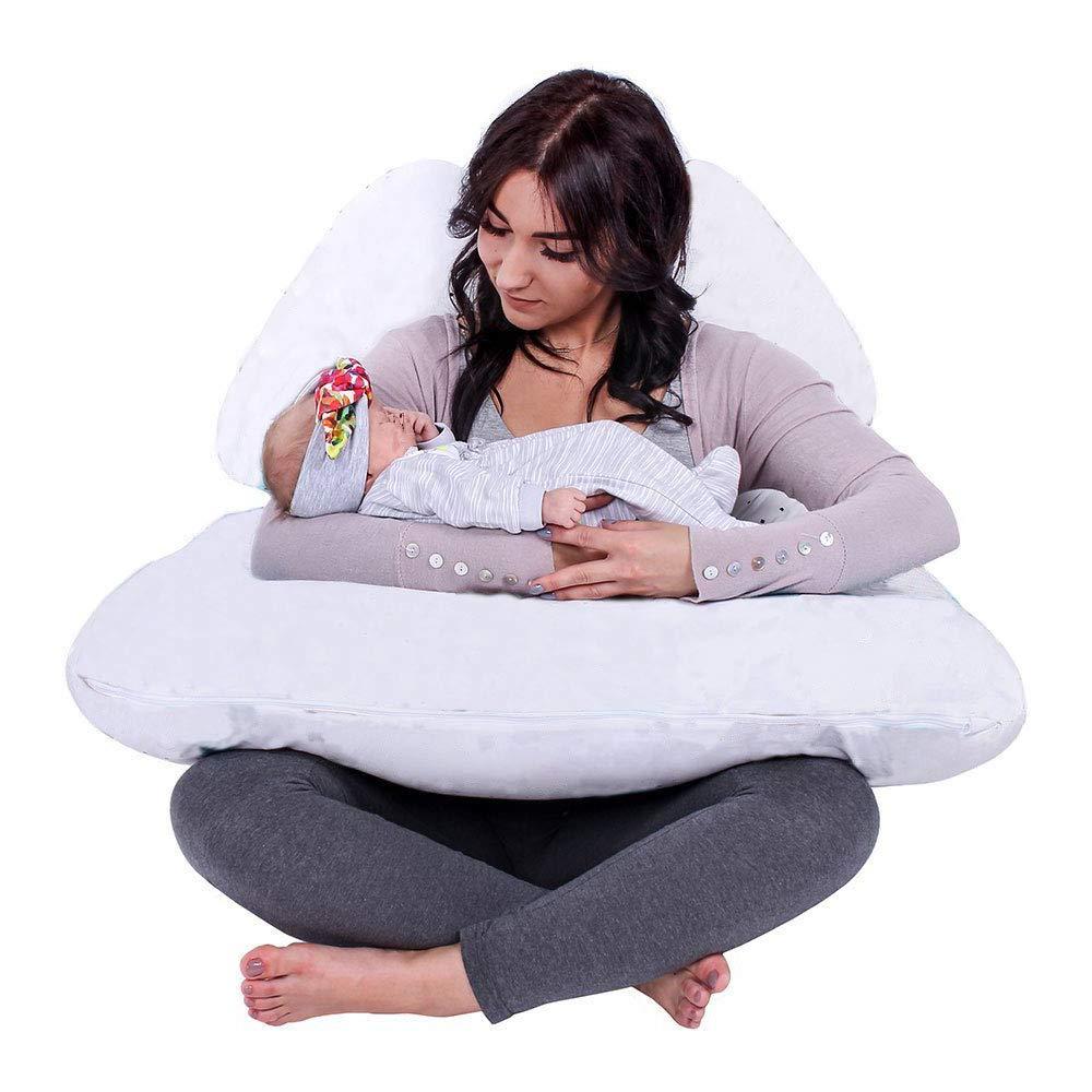 Almohada para embarazada (130 x 80 cm) | Almohada para lactancia materna | Almohada de embarazo y maternidad | Cojín embarazada gigante, cojín ...