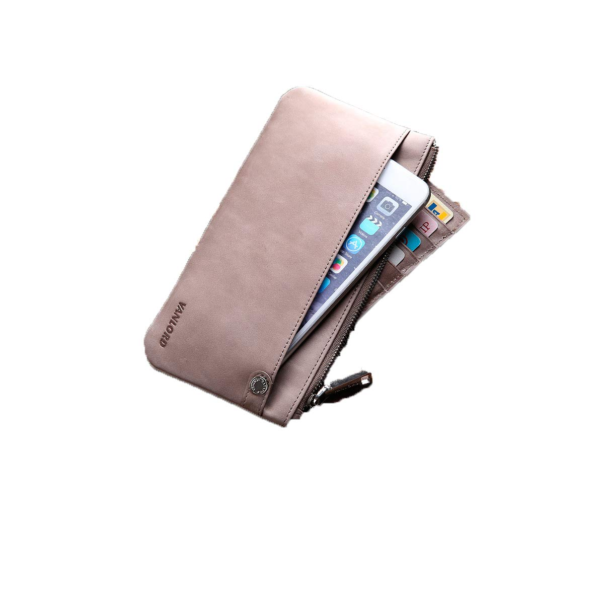 Color : Pink Extra Capacity Travel Wallet Bifold Side Flip Love Gift Extra Capacity Travel Wallet Kalmar RFID Travel Wallet 2 ID Window RFID Wallet for Men