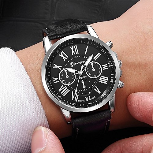 Amazon.com: Watches for Men DYTA Luxunry Watches Stainless Steel Cases Casual Wrist Watches on Sport Analog Quartz Watches with Leather Strap Relojes De ...