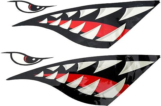 Sharplace 2 Piezas de Pegatinas de Kayak Barco Calcomanías Divertidas A Prueba de Agua Forma de Tiburón: Amazon.es: Coche y moto