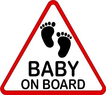 Carstyling Xxl Aufkleber Baby On Board Dreieckig 115 X 130 Mm Schneller Versand Innerhalb 24 Stunden Auto