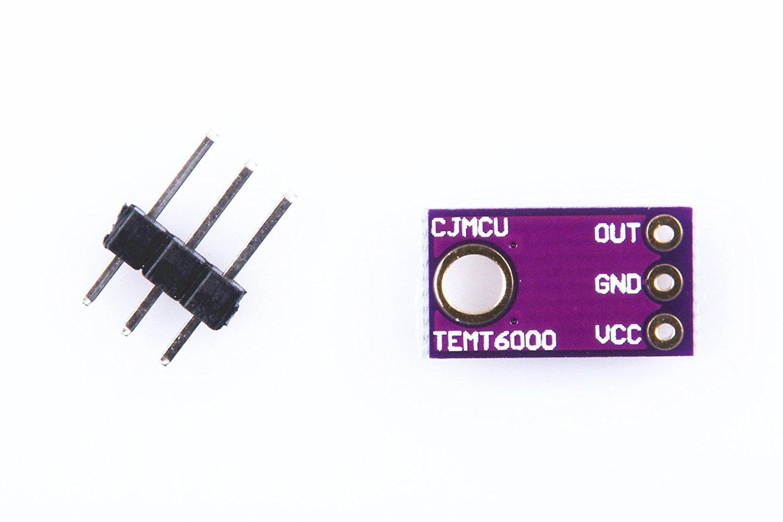 WINGONEER Módulo del sensor de luz TEMT6000 / módulo de sensor de luz ambiente / módulo de intensidad de luz analógico / módulo de sensor de luz visible: ...