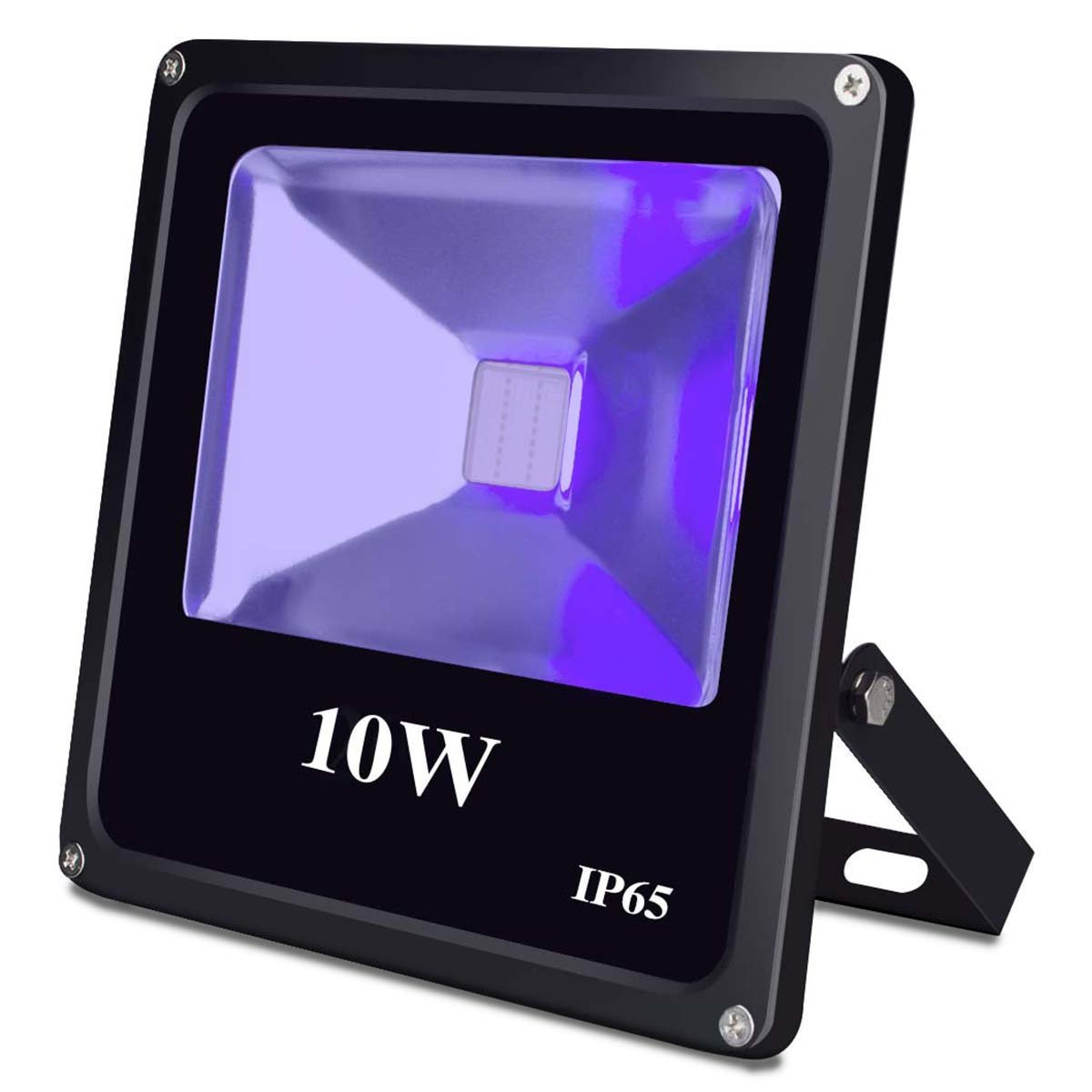 UV Black Light, Escolite 395nm Ultraviolet 10W LED Flood Light Outdoor for Blacklight Run,UV Glow Party