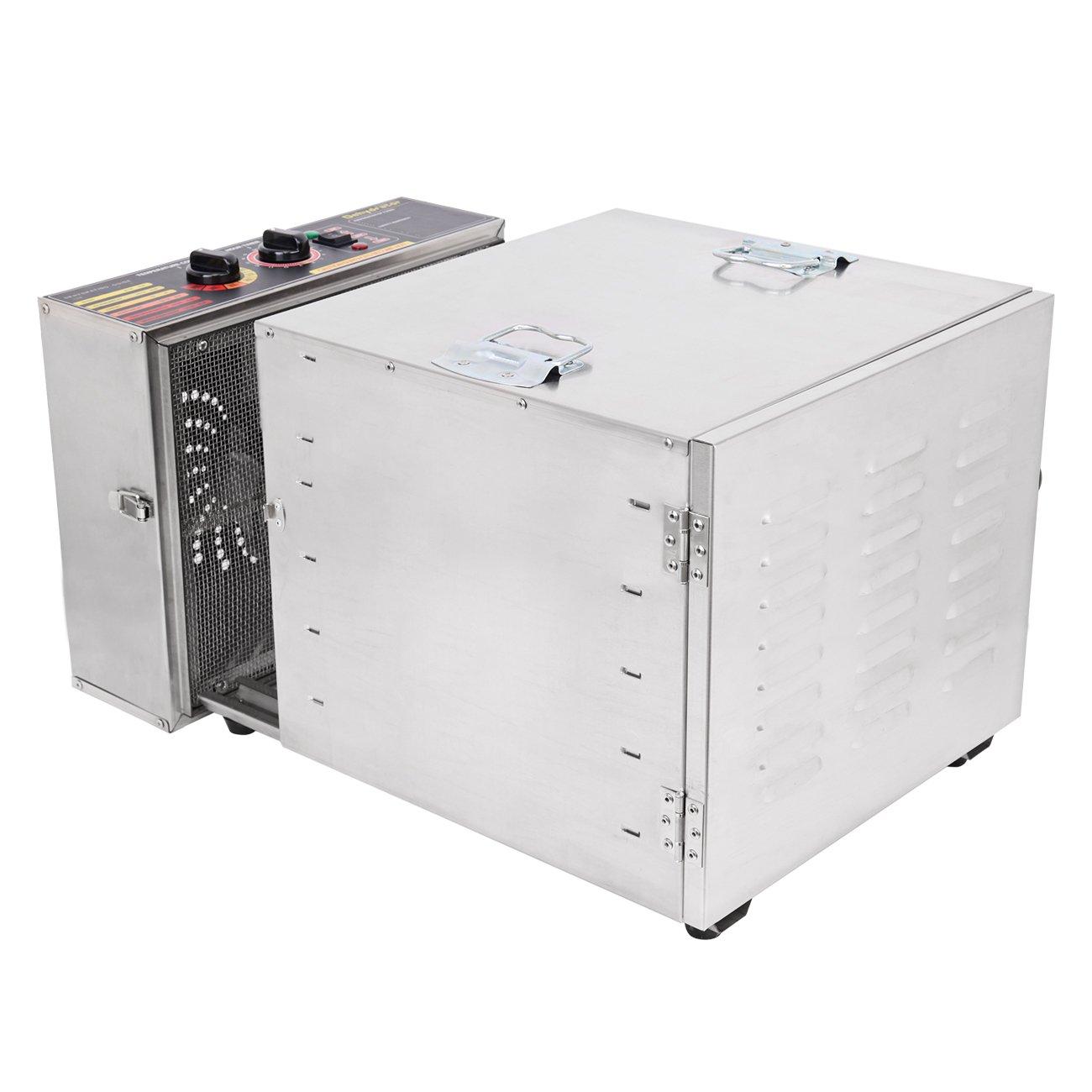 Ridgeyard 1000W Dehydrator Commercial Grade Stainless Steel Digital Food Dehydrator Jerky Dryer 10 Trays 158 Degree Fahrenheit with 15 Hour Timer by Ridgeyard (Image #5)