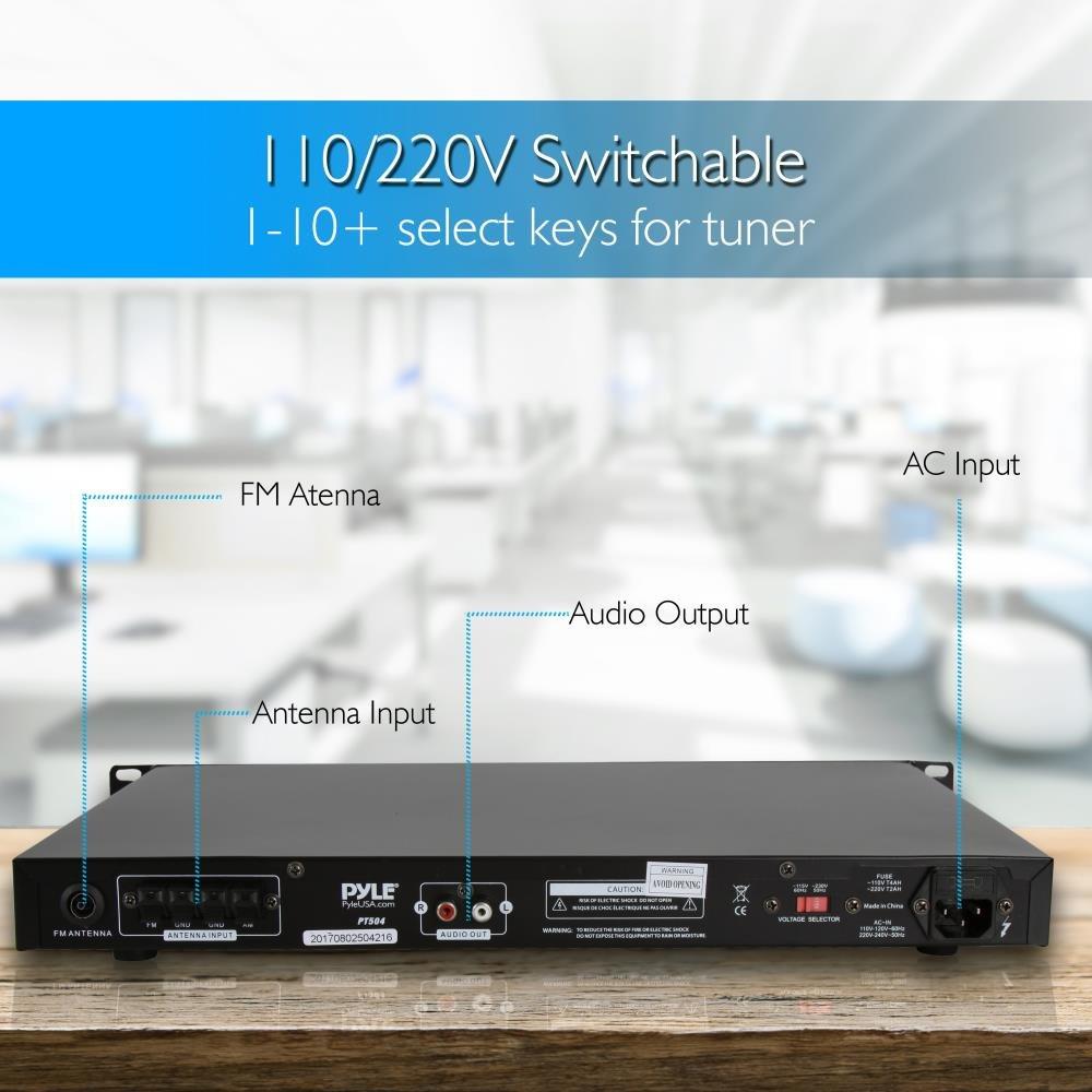 Pyle pt504/Rack Mount AM//FM Digital-Tuner mit Auto Start-Funktion