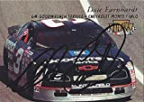 AUTOGRAPHED Dale Earnhardt Sr. 1996 Fleer Ultra Racing (#3 Goodwrench Service Plus) Chevrolet Monte Carlo Vintage NASCAR Collectible Trading Card #U56 with COA