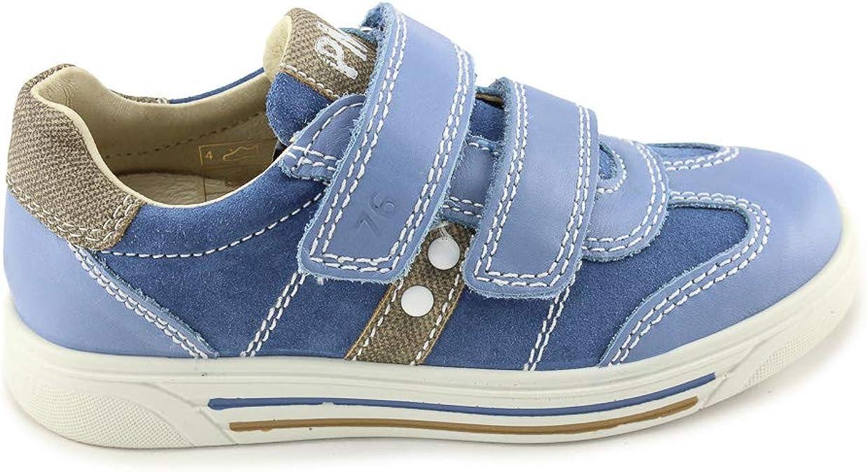 Textile Nubuk Normal Kinder Primigi Sneaker High Pme 64533 Navy-Cuoio