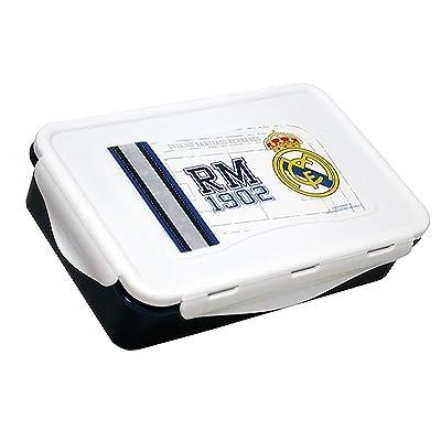 ALMACENESADAN 2531; Sandwichera Rectangular Real Madrid CF; Producto de plástico; NO BPA; Dimensiones 19,5x13x5: Juguetes y juegos