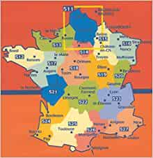 Michelin Map No. 518 Centre France: Orleans, Gien, Auxerre, Tours ...