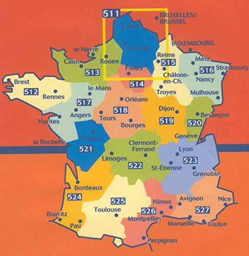 Michelin Map No. 515 Champagne Ardennes (France) Reims, Troyes, Metz, Nancy and Surrounding Area, Scale 1:200,000 (French Edition)