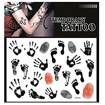 db42a3eb0 Amazon.com: SYZ Beauty Waterproof Temporary Tattoos Footprints ...