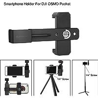 """Cochanvie Soporte para teléfono Osmo Pocket, Abrazadera de fijación de teléfono Inteligente Gimbal Soporte de Montaje de Soporte de 1/4""""para dji OSMO Pocket"""