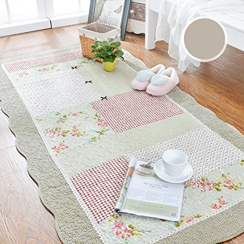 Decorative Rugs Modern Carpet Rectangle Washed Cotton mats for Bedroom Living Room Simple Nordic Thicker Coffee Table Mattress Tatami Crawler pad Non-Slip Foldable Washable-H 110x210cm(43x83inch)