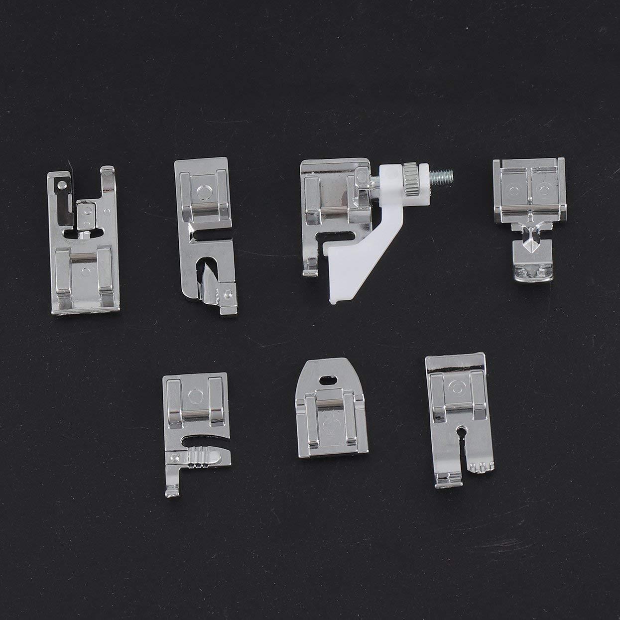 Tellaboull 11pcs Set Piedino per Macchina da Cucire Multifunzione Piedini Ricambi Accessori Accessori Utensili per la casa Piedino Universale per pressatura