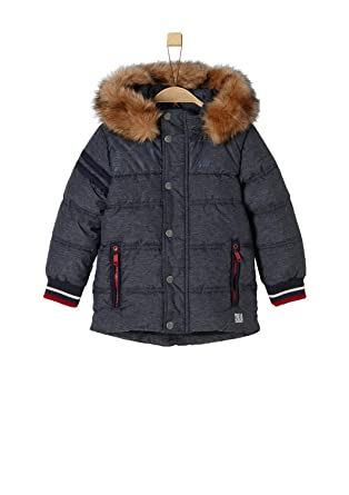 be03479e0b5fa0 s.Oliver RED Label Junior Jungen Wasserabweisende Winterjacke Dark Blue  Melange 116