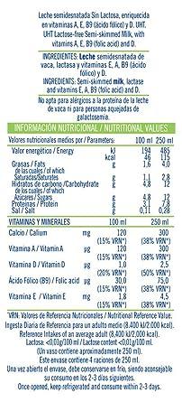 Puleva Mañanas Ligeras Leche, sin Lactosa Semidesnatada - 6 x 1 L - Total: 6 L: Amazon.es: Alimentación y bebidas