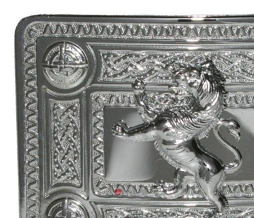 Celtic Knot Kilt boucle de ceinture avec Lion Mont Chrome