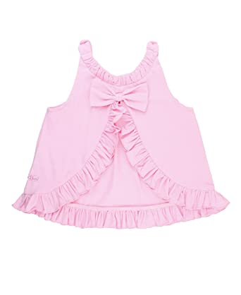 b58a5754 Amazon.com: RuffleButts Baby/Toddler Girls Knit Open-Back Ruffle ...