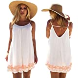 Franterd Women Mini Dress Summer Evening Party Beach Backless Skirts Sundress