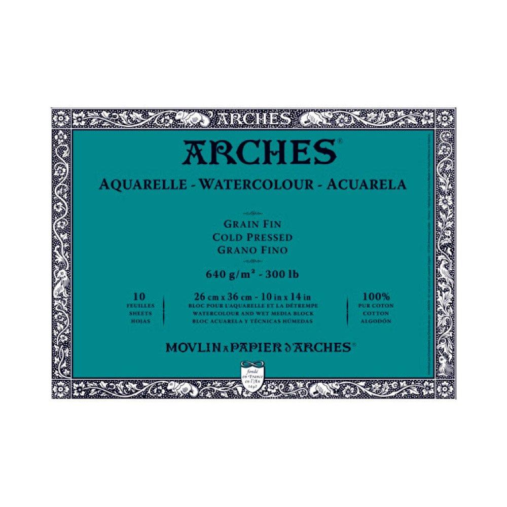 Arches 300 lb. Cold Press Block 10x14 - Natural White by Arches WINSOR & NEWTON CANVAS