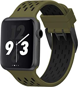 Acrbiutu Bands Compatible with Apple Watch 38mm 40mm 42mm 44mm, Soft Breathable Silicone Replacement Sport Accessory Strap Wristband for iWatch SE Series 6/5/4/3/2/1 Women Men
