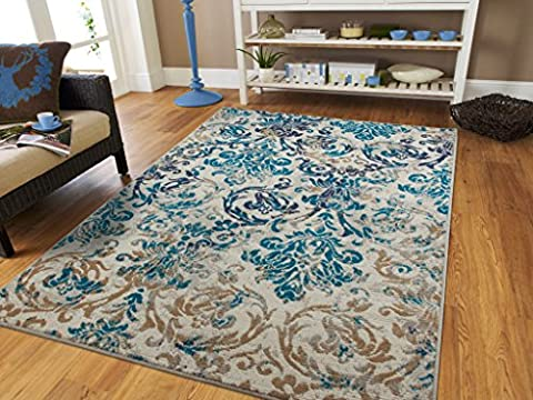 Large Gray Rugs For Living Room Cheap 8x11 Ivory Blue Navy Beige Floor Vintage Distressed Rugs for Living Room 8x10 Area Rug (8x11 Area Rug Blue)