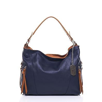 Los Angeles 73c85 342b9 Anna Morellini , Sac porté épaule femme - Bleu - bleu foncé ...