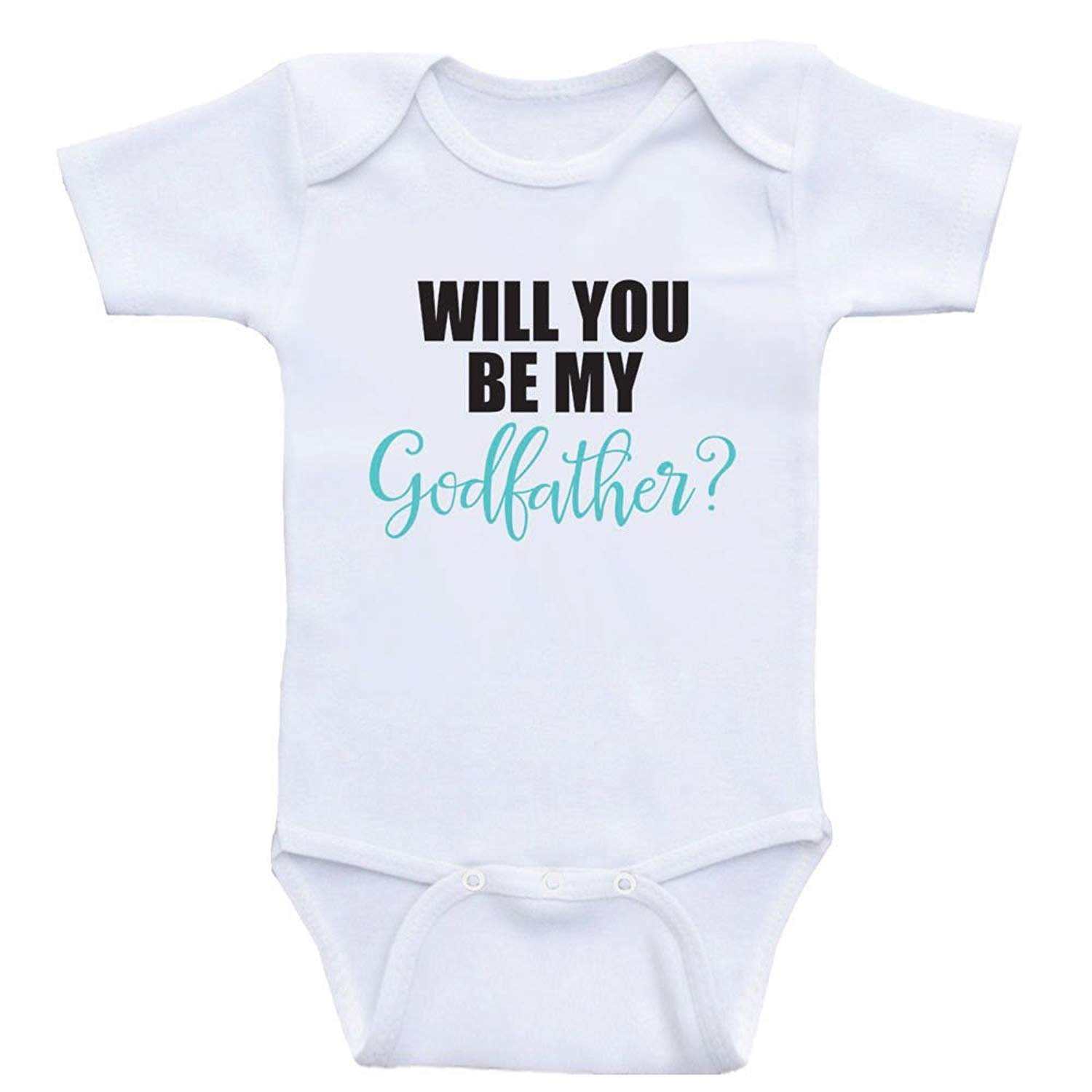 Promini Cute Baby Onesie Will You Be My Godfather Funny Bodysuits