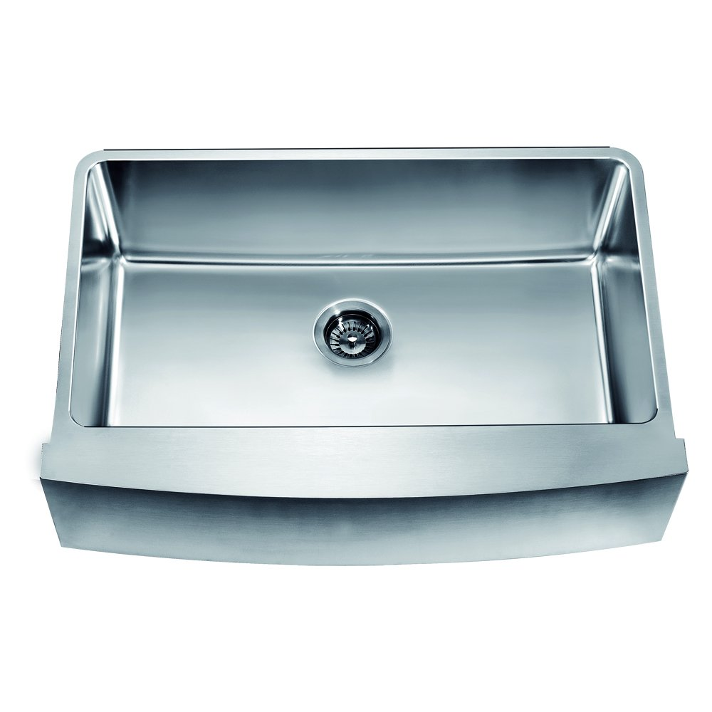 Dawn DAF3320C Undermount Single Bowl with Curved Apron Front Sink ...