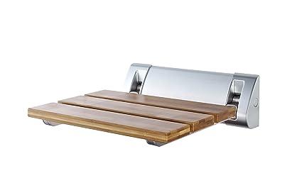 Sedile Doccia Ribaltabile Offerte : Ridder a sedile richiudibile per doccia bambù importato