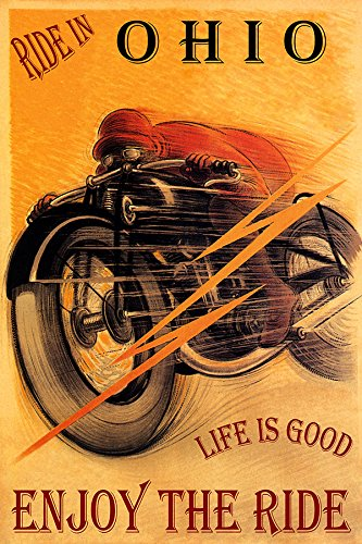RIDE IN OHIO MOTORCYCLE RIDING BIKE LIFE IS GOOD ENJOY THE RIDE 20