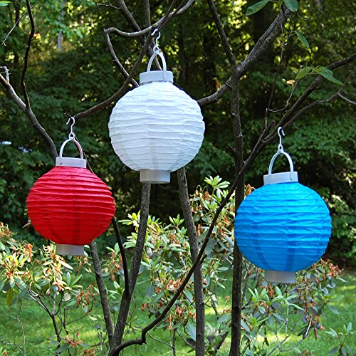 """LumaBase Party Festive Lighting Battery Operated Paper Lanterns (8"""") Turquoise 3 Count"""