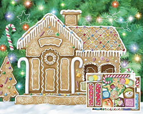 Gingerbread House Sticker Advent Calendar (Countdown to Christmas)